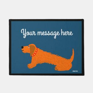 Tapete Doormat do cão do Dachsund do tintureiro de John