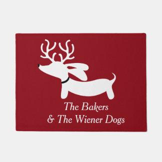 Tapete Doormat do cão do Wiener do Dachshund da rena do