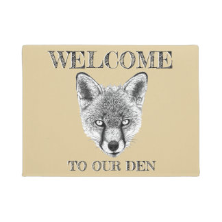 "Tapete Doormat do Fox ""boa vinda Doormat feito sob"