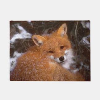 """Tapete """"Doormat do Fox vermelho"""""""