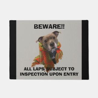 Tapete Doormat do inspector do regaço de Pitbull