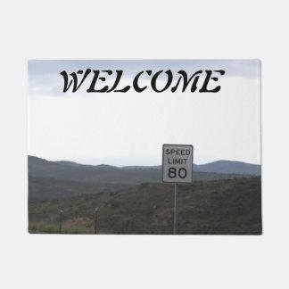 Tapete Doormat do limite de velocidade 80