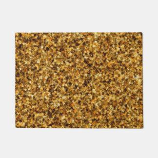 Tapete Doormat dourado da camuflagem