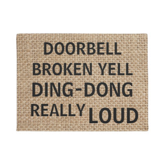 Tapete Doormat engraçado de serapilheira