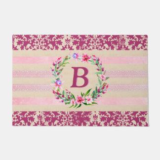 Tapete Doormat floral corajosamente romântico do
