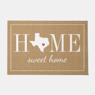 Tapete Doormat Home bem-vindo personalizado da juta de
