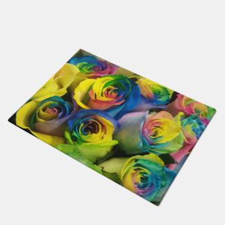 Tapete Doormat original dos rosas do arco-íris