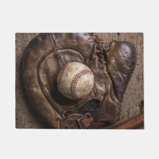 Tapete Equipamento de basebol do vintage