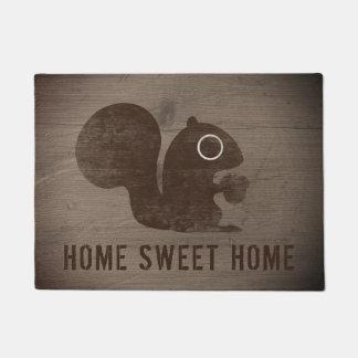 Tapete Esquilo com o Doormat personalizado porca