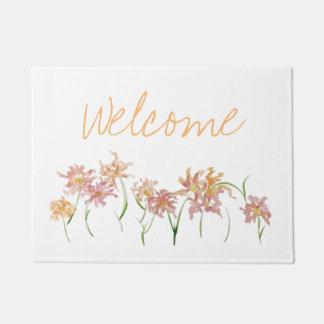 Tapete Esteira bem-vinda da flor
