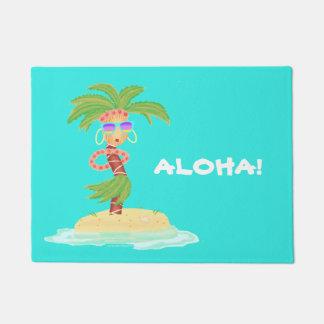 Tapete Esteira bem-vinda da palma de Hula