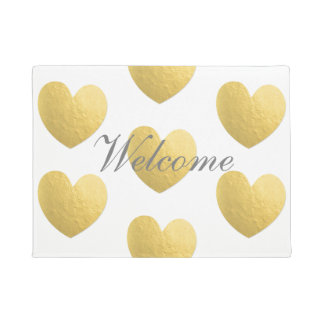 Tapete Esteira bem-vinda do coração