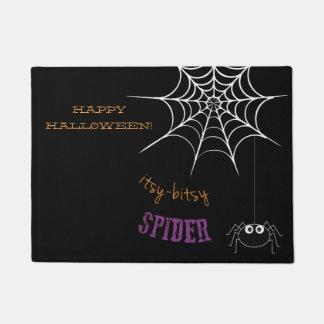 Tapete Esteira bem-vinda do Dia das Bruxas com Web de