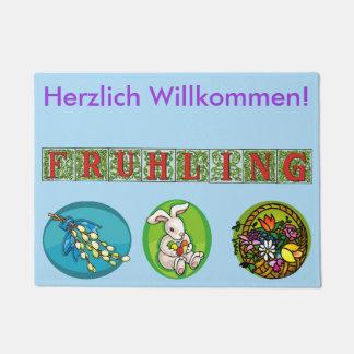 Tapete Esteira bem-vinda do primavera alemão