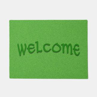 Tapete Esteira bem-vinda do reflexo verde