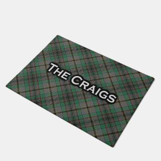 Tapete Esteira bem-vinda do Tartan escocês de Craig do