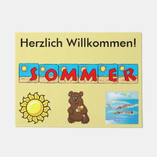 Tapete Esteira bem-vinda do verão alemão