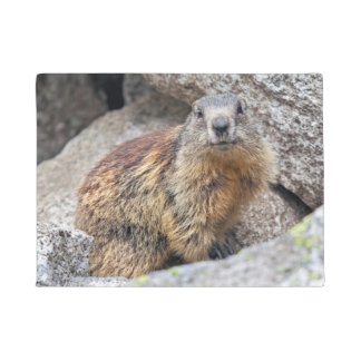 Tapete Esteira de porta alpina da marmota