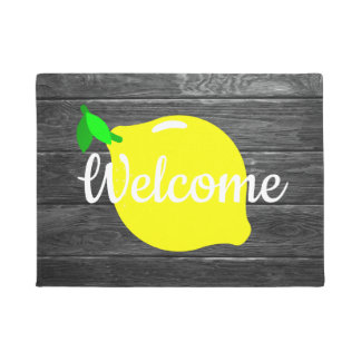 """Tapete Esteira de porta da """"boa vinda"""" do limão e da"""