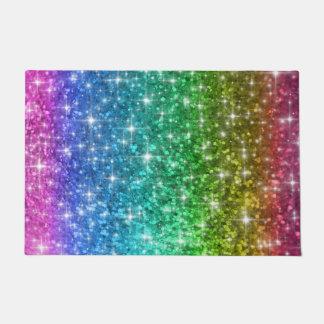 Tapete Esteira de porta da faísca do arco-íris