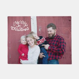 Tapete Esteira de porta da foto do Natal, tipografia do