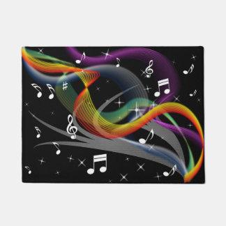 Tapete Esteira de porta da ilustração da música