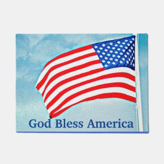 Tapete Esteira de porta de América dos deus abençoe