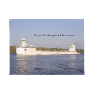 Tapete Esteira de porta de Samuel D. Champlain & de