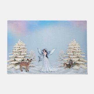 Tapete Esteira de porta do anjo da neve do inverno