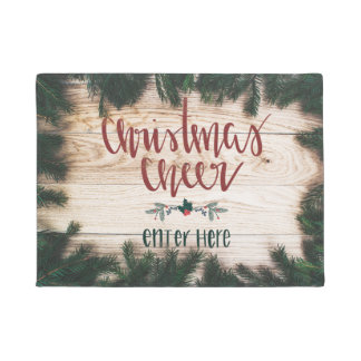 Tapete Esteira de porta do elogio do Natal