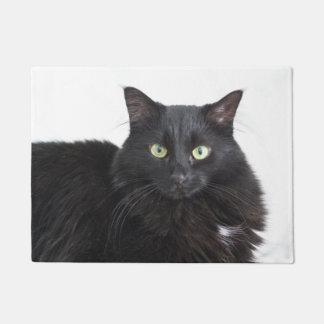 Tapete Esteira de porta do gato preto