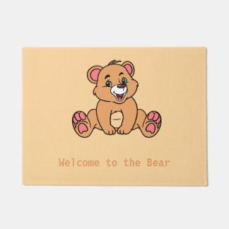 Tapete Esteira de porta do urso