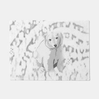 Tapete Esteira de porta do urso polar