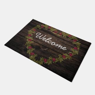 Tapete Esteira de porta floral da boa vinda da grinalda