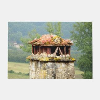 Tapete Esteira de porta francesa antiga da chaminé