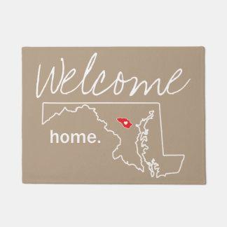 Tapete Esteira de porta Home do condado de Maryland -