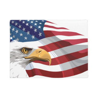 Tapete Esteira de porta patriótica da bandeira