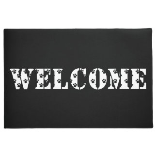 Tapete Esteira de porta preto e branco Home bem-vinda do