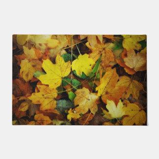 Tapete Esteira de porta Queda-Temático - folhas do ouro