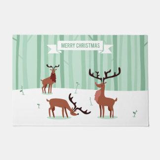 Tapete Esteiras de porta bonitos do Natal das renas
