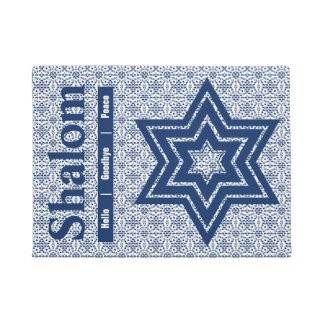Tapete Estrela de David do laço com texto de Shalom