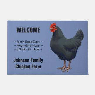 Tapete Eu amo minha galinha de Australorp