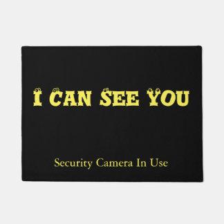 Tapete Eu posso vê-lo, câmara de segurança no uso