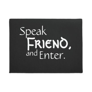 """Tapete """"Fale a esteira bem-vinda do amigo"""""""