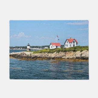 Tapete Farol da ilha da ram, esteira de porta de Maine