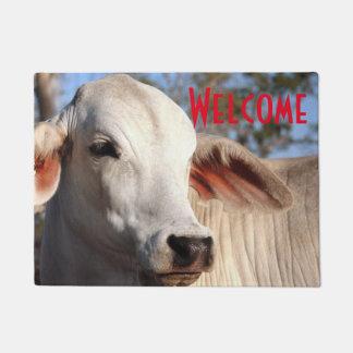 Tapete Fazenda branca bonita da fotografia do gado da
