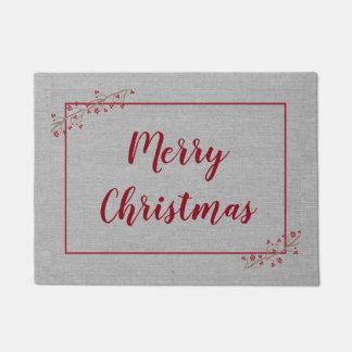 Tapete Feliz Natal, cinzas elegantes de Borgonha