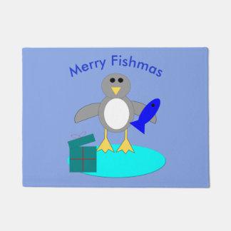 Tapete Feliz Natal que pesca a esteira de porta do