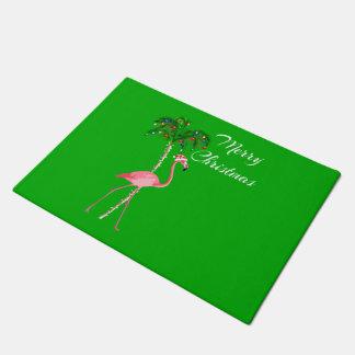 Tapete Flamingo do Feliz Natal