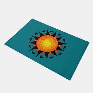 Tapete Flor abstrata de Sun